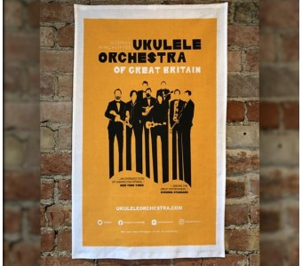 Orange Tour Poster Tea Towel